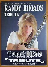 Randy Rhoads Burrn Tribute Japanese Book OBI 1988 Quiet Riot Ozzy Osbourne OOP