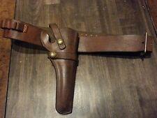 """Brown Leather Hunter Gun Belt and Holster 1100-18 For 6"""" Barrel Revolver 44 / 45"""