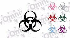 2x Biohazard Vinilo Autoadhesivo Con, Ordenador Portátil, Coche, Pared, Ventana, 9.5cm X 10cm
