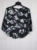 Dolce Vita Black with White Print Blouse Women's Small