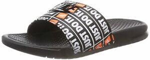 NWT Nike Benassi JDI black orange print 016 Men's Slides slide13 flip flop