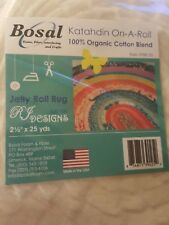 Bosal Katahdin On-A-Roll 2.5 In X 25 Yds For Strip Rug 100% Organic Cotton Blend