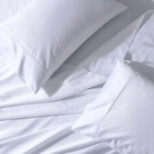 Luxury 650 Thread Count Solid Blend Combed Cotton Unattached Waterbed Sheet Set