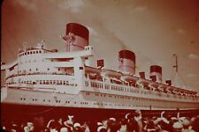 Queen Mary Cruise Ship Vintage Commercial 35mm Slide B36