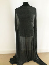 5c6ef1d2c34 Black/Silver Lurex Crinkled Stretch Mesh Jersey Dressmaking Fabric--2.4mts