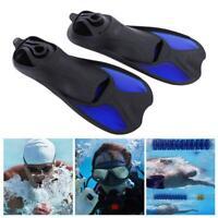 Diving Foot Short Fins Swim Flippers Scuba Snorkeling Snorkel Diving Surf Set