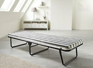 JAY-BE Value Folding Bed with Rebound e-Fibre Mattress, Fabric, Black,