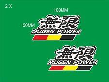 Honda Mugen Power Pegatinas De Vinilo X 2 calcomanías de contorno de corte Honda 100MM