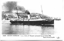 Pamlin repro photo postcard SM621 SS ISLE OF THANET Dover Harbour 1938