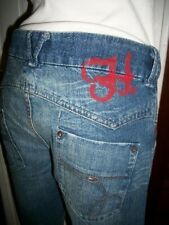 Pantalon jeans VINTAGE LEAGE TOMMY HILFIGER w28 L32 38 megan brodé imprimé A18