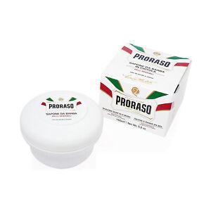 Proraso White Line Shaving Soap In A Bowl Sensitive Skin , 5 oz, 150 ml