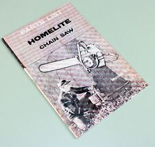 HOMELITE EZ CHAINSAW PARTS LIST ASSEMBLY MANUAL CATALOG EXPLODED VIEWS
