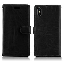 Leather Magnetic Flip Phone Case Cover For Huawei iPhone X 4 / 5 / 6 / 7 / 8Plus
