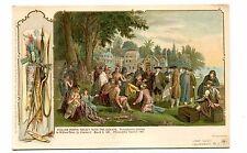Vintage Postcard William Penn'S Treaty W Indians Schwalbach udb 1903