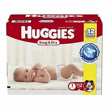 Huggies Snug And Dry Diapers Size 1 Newborn Up New Baby 112 Count Free Shipping