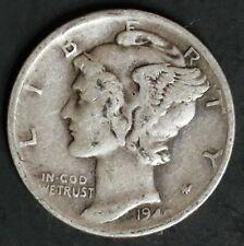 1940 S Circulated Mercury Dime Coin