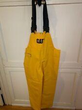 GENTLY USED CATERPILLAR CAT RUBBER SLICKER PANTS W/ SUSPENDERS XL GREAT OUTDOOR