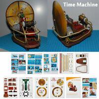 "7.9"" Time Machine Handcraft Paper DIY Model Kit Toy Children Kid Gift Hobby"
