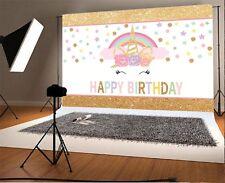 Unicorn Icon Photography Background Baby Birthday Party Photo Backdrops 7x5ft