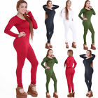 Sexy Women Bandage Bodycon Long Sleeve Clubwear Romper Jumpsuit Playsuit Pant CA