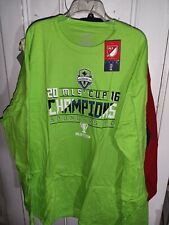 Seattle Sounders Fc Long Sleeve T-Shirt Soccer 2016 Mls Cup Champions - 5Xl