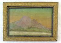 Bild Antike Derartige Öl Landschaft Bergkristall, All'Alba Malerei Antik BM39