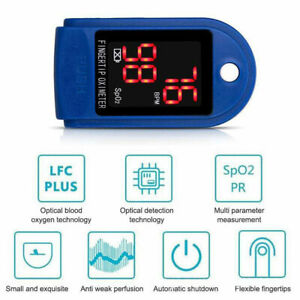 Finger Pulse Oximeter Blood Oxygen Saturation Monitor Pulse Heart Rate Monitor