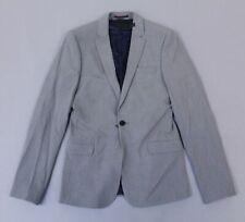 Asos Men's L/S Basic Solid Super Skinny Suit Jacket KB8 Mid Gray Size 36