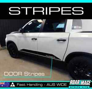 2021 Ssangyong Musso Side DOOR Stripes decals stickers 4x4 4WD Turbo