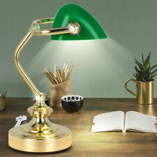 Ancien Table Beistell Lampe Banquier Design Éclairage la Vie Chambre Spot Vert