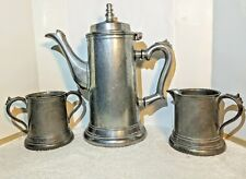 Duratale by Leonard Coffee Tea  Pot with Creamer & Sugar Set made in Italy