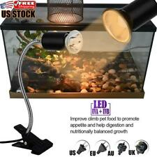 Us Heat Uva/Uvb Lamp Holder Aquarium Tank Lighting Clip for Fish Turtle Reptile