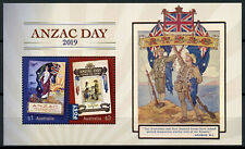 Australia Stamps 2019 MNH WWI WW1 Anzac Memorial Day Flags Military & War 2v M/S