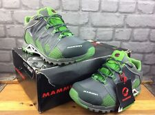 MAMMUT MENS UK 7.5 EU 41 1/3 COMFORT LOW GTX SURROUND HIKING TRAINERS GREY GREEN
