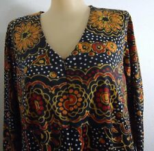 Vtg 70s Vanity Fair Geometric Nylon Multicolor Disco Lounging Dress Robe 12 Maxi