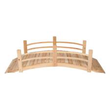 Outdoor 6 ft. Natural Cedar Wood Garden Bridge Kit Rust-Resistant Garden Decor