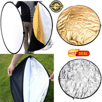 "Studio Reflector 24"" 5in1 Handheld Light Photograph 60cm Mulit Collapsible Disc"