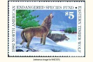 N. American Endangered Species 1982 $5 wolves *SALE*