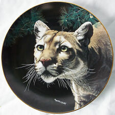 American Cougar Collector Plate#4807A Martiena Richter Nature's Majestic Cats