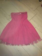 Lovely Pink Niñas Studed Vestido Tubo en muy buen estado 8/9 años