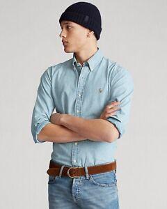 Ralph Lauren Jeanshemd Custom Fit Größe M blau NP ca 120€ Shirt