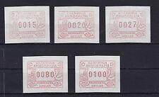 Postfrische Briefmarken aus der Philatelie