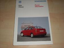 55734) VW Polo Classic Pressemappe 11/1995