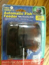 Automatic fish feeder daily double 2 battery powered