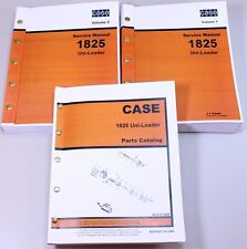 Case 1825 Uni Loader Skid Steer Parts Catalog Service Repair Shop Manuals Set