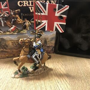 King & Country: Boxed Set CRW003 - Mounted 17th Lancer w/ Standard. Retired