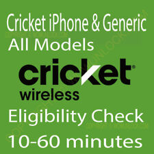 Cricket iPhone & Generic All Models - Unlock Eligibility Check Service by imei