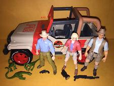 JURASSIC PARK toy JEEP WRANGLER car + 4 ACTION FIGURE lot TOY jurasic world JP18