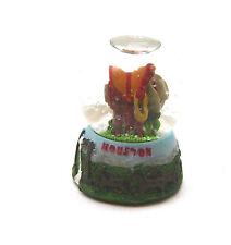 Houston Texas Cowboy Horse Saddle Small Souvenir Travel Tourism Snow Globe Dome