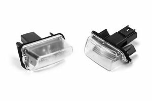 Peugeot 206 CC 00-08 Genuine Rear Tail License Number Plate Light Lamp Set Pair